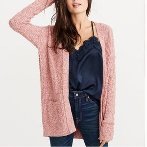 ABERCROMBIE & FITCH • open stitch cable cardigan